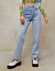 Выбеленные джинсы Topshop Kort-Голубой