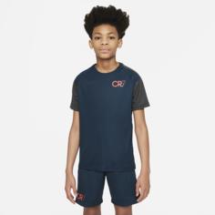 Игровая футболка с коротким рукавом для школьников Nike Dri-FIT CR7 - Синий