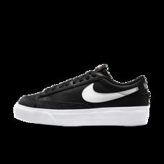 Женские кроссовки Nike Blazer Low Platform - Черный