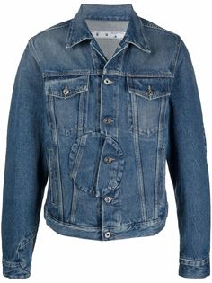 Off-White джинсовая куртка Corp со вставкой