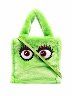 Moschino сумка-тоут Eyes из искусственного меха