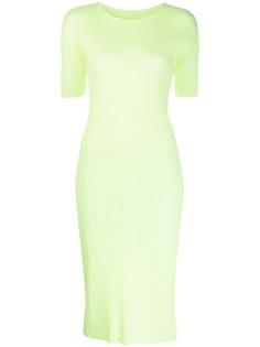 Pleats Please Issey Miyake плиссированное платье миди