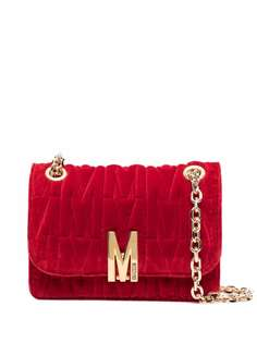 Moschino бархатная сумка через плечо с логотипом