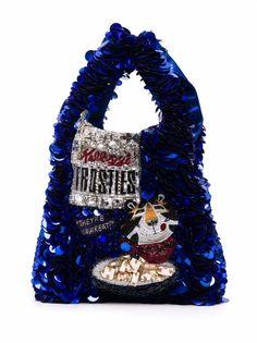 Anya Hindmarch мини-сумка Frosties с пайетками