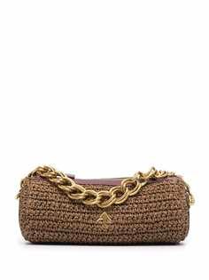 Manu Atelier сумка из рафии с цепочкой
