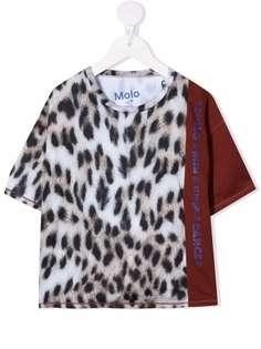 Molo футболка с леопардовым принтом