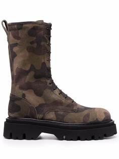 Casadei ботинки Generation X с камуфляжным принтом