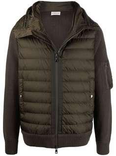 Moncler куртка со стегаными вставками