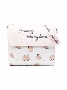 Monnalisa пеленальная сумка с вышивкой и принтом