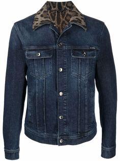 Dolce & Gabbana джинсовая куртка с леопардовым принтом