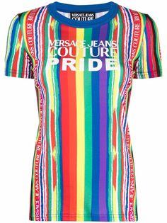 Versace Jeans Couture полосатая футболка Pride с короткими рукавами