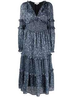 Michael Michael Kors ярусное платье миди с цветочным принтом