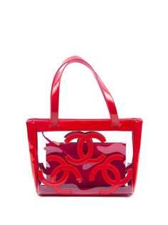 Chanel Pre-Owned сумка-тоут 2000-х годов с логотипом CC