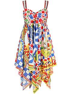 Dolce & Gabbana твиловое платье с принтом Carretto