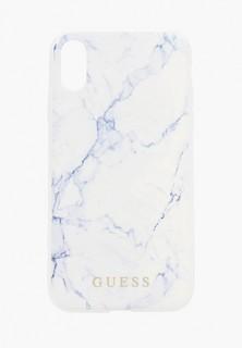 Чехол для iPhone Guess XR, Marble Design PC/TPU White