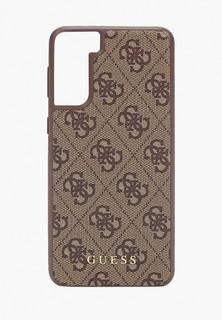 Чехол для телефона Guess Galaxy S21+, PU 4G Metal logo Brown