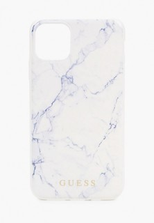 Чехол для iPhone Guess 11 Pro Max, Marble Design PC/TPU White