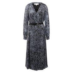 Платье из смеси шелка и вискозы MICHAEL Michael Kors