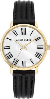 Женские часы в коллекции Leather Женские часы Anne Klein 3678MPBK