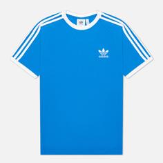 Мужская футболка adidas Originals Adicolor Classics 3-Stripes, цвет голубой, размер XS