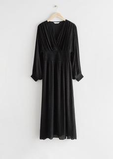 Платье оверсайз со сборками и свободными рукавами & Other Stories