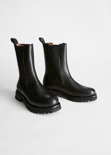Кожаные ботинки челси на массивной подошве & Other Stories