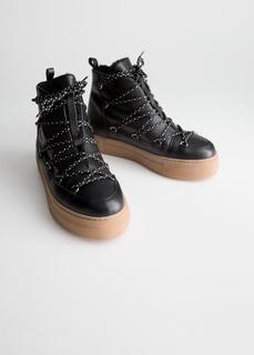 Кожаные зимние ботинки & Other Stories