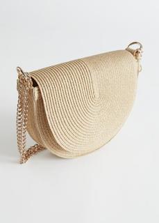Соломенная сумка-кроссбоди в форме полумесяца & Other Stories
