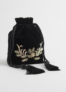 Бархатная сумка с вышивкой & Other Stories