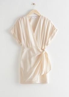 Свободное мини-платье с запахом & Other Stories
