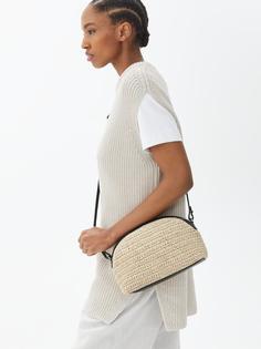Arket - Сумка через плечо в форме полумесяца для женщин - Черный, Бежевый, Разноцветный - Размер ONESIZE
