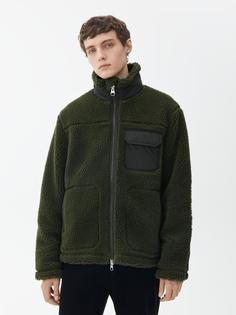 Смесовая шерстяная куртка из искусственного меха Arket