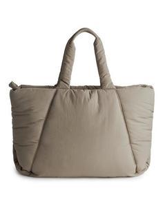Arket - Большая объемная сумка для женщин - Бежевый - Размер ONESIZE