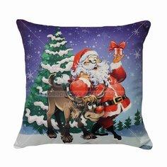 Подушка декоративная Дед Мороз, 40х40 см