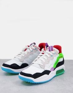 Бело-серые кроссовки Nike Jordan MA2-Белый