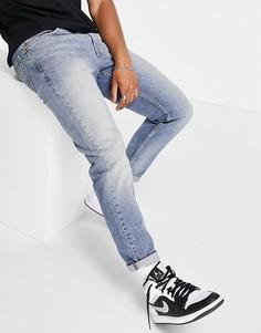 Синие суженные книзу джинсы в винтажном стиле Levis 502 Hi-ball-Голубой