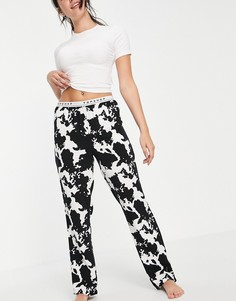 Монохромный пижамный комплект с коровьим принтом Topshop-Multi
