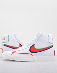 Кроссовки белого и оранжевого цветов Nike Blazer Mid 77 Infinite-Белый
