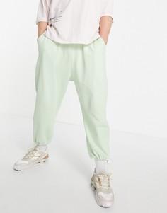 Зеленые джоггеры в стиле super oversized из органического материала с заниженной проймой от комплекта ASOS DESIGN-Зеленый цвет