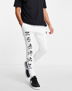 Белые джоггеры с блестящим принтом Микки Мауса от комплекта ASOS DESIGN-Белый