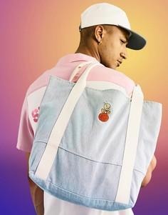 Большая сумка-тоут из денима с вышивкой Твити Пай ASOS DESIGN Space Jam 2-Голубой