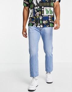 Прямые джинсы до щиколотки выбеленного голубого оттенка Levis 501 93-Голубой