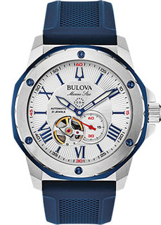 Японские наручные мужские часы Bulova 98A225. Коллекция Marine Star