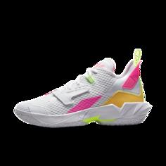 """Баскетбольные кроссовки Jordan """"Why Not?""""Zer0.4 - Белый Nike"""