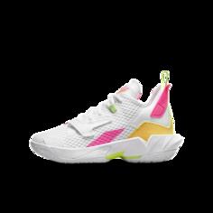 """Баскетбольные кроссовки для школьников Jordan """"Why Not?""""Zer0.4 - Белый Nike"""