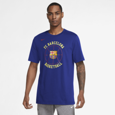 Мужская баскетбольная футболка Nike Dri-FIT FC Barcelona - Синий