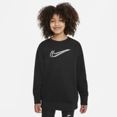 Толстовка для танцев для девочек школьного возраста Nike Sportswear - Черный