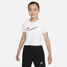 Укороченная футболка для танцев для девочек школьного возраста Nike Sportswear - Белый