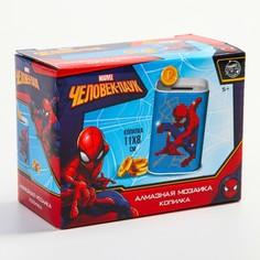 Алмазная вышивка на копилках человек-паук Marvel