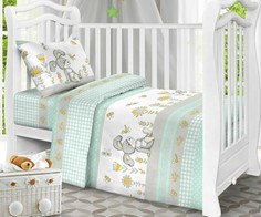 Постельное белье набор в детскую кроватку из бязи люкс Viola'
